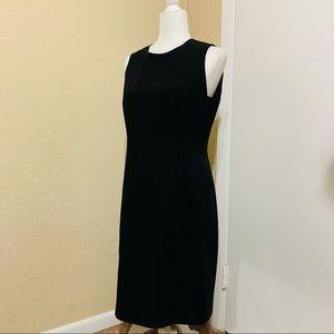 Calvin Klein Black Modest Midlength Work Dress 8